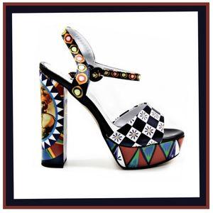 AZURA  Abstract Design Platform Sandal
